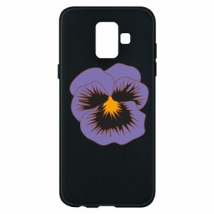 Phone case for Samsung A6 2018 Pansy Flower
