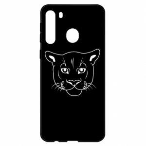 Etui na Samsung A21 Panther black