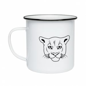 Enameled mug Panther black