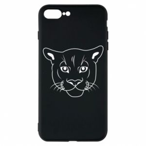 Phone case for iPhone 7 Plus Panther black
