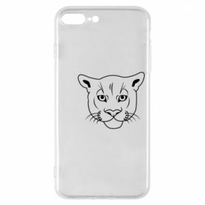 Phone case for iPhone 8 Plus Panther black