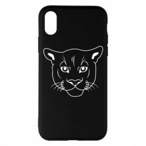 Phone case for iPhone X/Xs Panther black