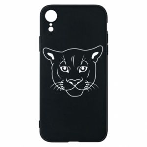 Phone case for iPhone XR Panther black