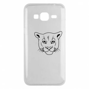 Phone case for Samsung J3 2016 Panther black