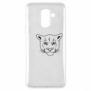 Phone case for Samsung A6+ 2018 Panther black