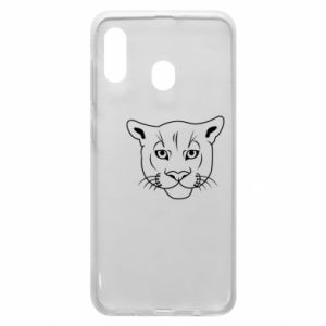 Phone case for Samsung A20 Panther black