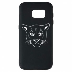 Phone case for Samsung S7 Panther black