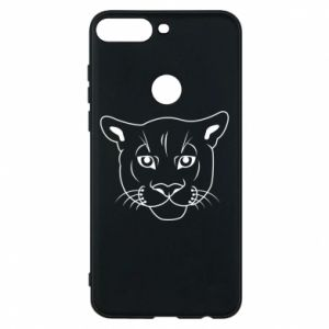 Phone case for Huawei Y7 Prime 2018 Panther black