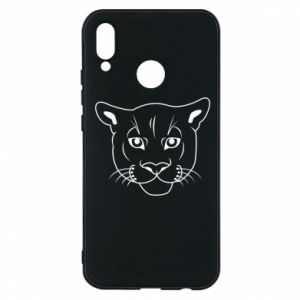 Phone case for Huawei P20 Lite Panther black