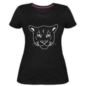 Damska premium koszulka Panther black - PrintSalon