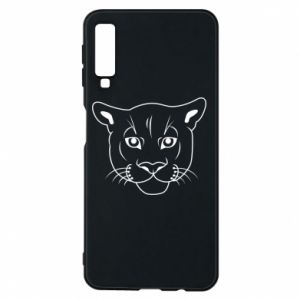 Phone case for Samsung A7 2018 Panther black