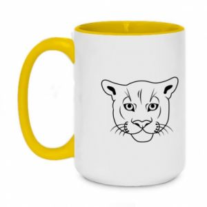 Two-toned mug 450ml Panther black