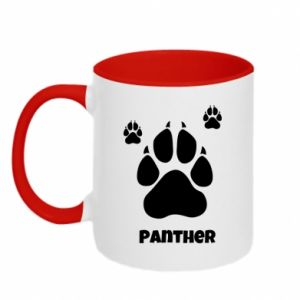 Two-toned mug Panther trail