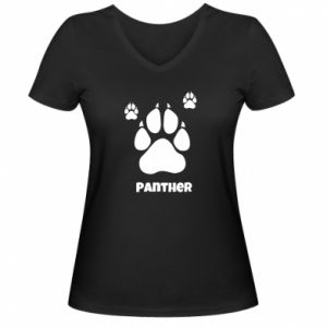 Women's V-neck t-shirt Panther trail