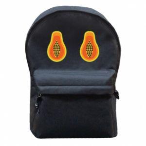 Plecak z przednią kieszenią Papaya