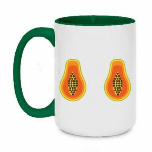 Kubek dwukolorowy 450ml Papaya