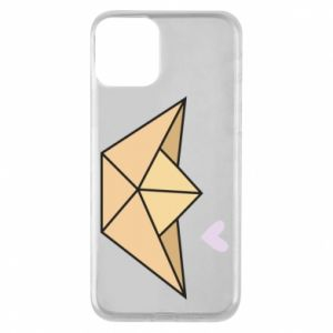 Etui na iPhone 11 Paper boat with a heart