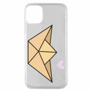 Etui na iPhone 11 Pro Paper boat with a heart