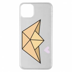 Etui na iPhone 11 Pro Max Paper boat with a heart