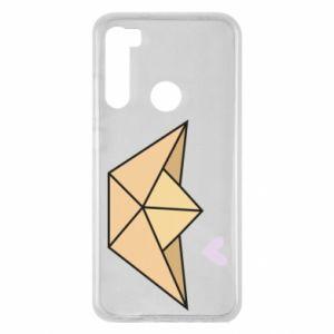 Etui na Xiaomi Redmi Note 8 Paper boat with a heart