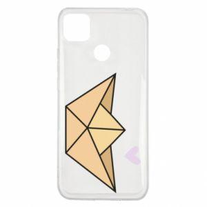 Etui na Xiaomi Redmi 9c Paper boat with a heart