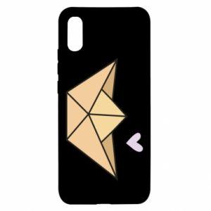 Etui na Xiaomi Redmi 9a Paper boat with a heart
