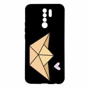 Etui na Xiaomi Redmi 9 Paper boat with a heart