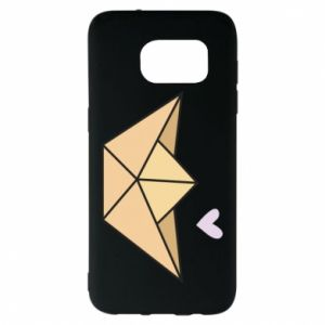 Etui na Samsung S7 EDGE Paper boat with a heart