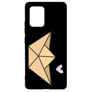 Etui na Samsung S10 Lite Paper boat with a heart