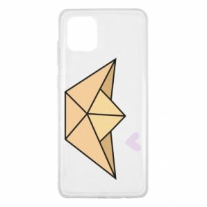 Etui na Samsung Note 10 Lite Paper boat with a heart