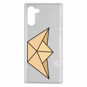 Etui na Samsung Note 10 Paper boat with a heart