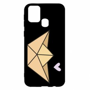 Etui na Samsung M31 Paper boat with a heart