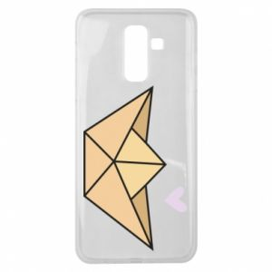 Etui na Samsung J8 2018 Paper boat with a heart