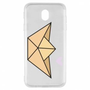 Etui na Samsung J7 2017 Paper boat with a heart