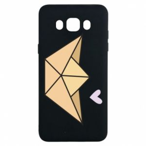 Etui na Samsung J7 2016 Paper boat with a heart