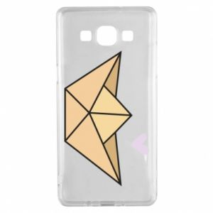 Etui na Samsung A5 2015 Paper boat with a heart