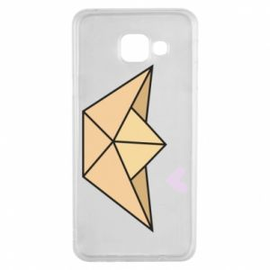 Etui na Samsung A3 2016 Paper boat with a heart