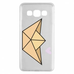 Etui na Samsung A3 2015 Paper boat with a heart