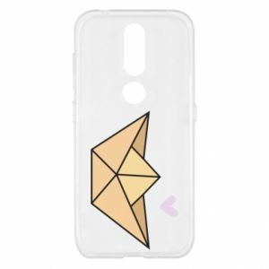 Etui na Nokia 4.2 Paper boat with a heart
