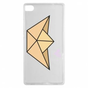Etui na Huawei P8 Paper boat with a heart
