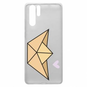 Etui na Huawei P30 Pro Paper boat with a heart