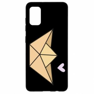 Etui na Samsung A41 Paper boat with a heart