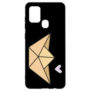 Etui na Samsung A21s Paper boat with a heart
