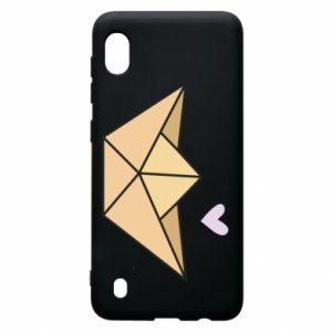 Etui na Samsung A10 Paper boat with a heart