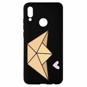 Etui na Huawei P Smart 2019 Paper boat with a heart