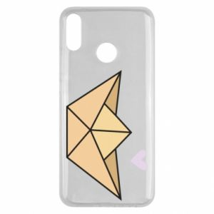 Etui na Huawei Y9 2019 Paper boat with a heart