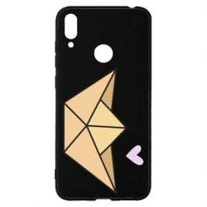 Etui na Huawei Y7 2019 Paper boat with a heart