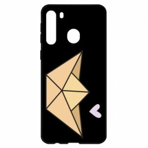 Etui na Samsung A21 Paper boat with a heart