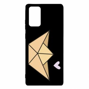 Etui na Samsung Note 20 Paper boat with a heart