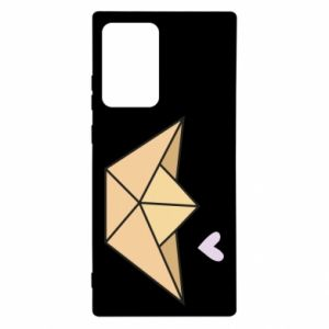 Etui na Samsung Note 20 Ultra Paper boat with a heart